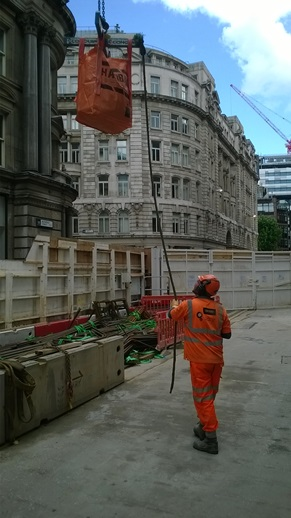 Hazibag used on Laing O'Rourke Crossrail Project